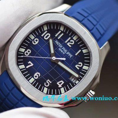 【视频评测PF一比一超A高仿手表】百达翡丽AQUANAUT系列5168G-001腕表