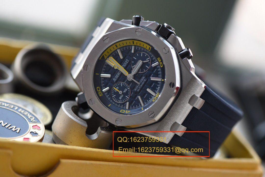 视频评测JF厂一比一超A高仿爱彼皇家橡树离岸型系列26703ST.OO.A027CA.01腕表/爱彼蓝莓 / APCB029MM