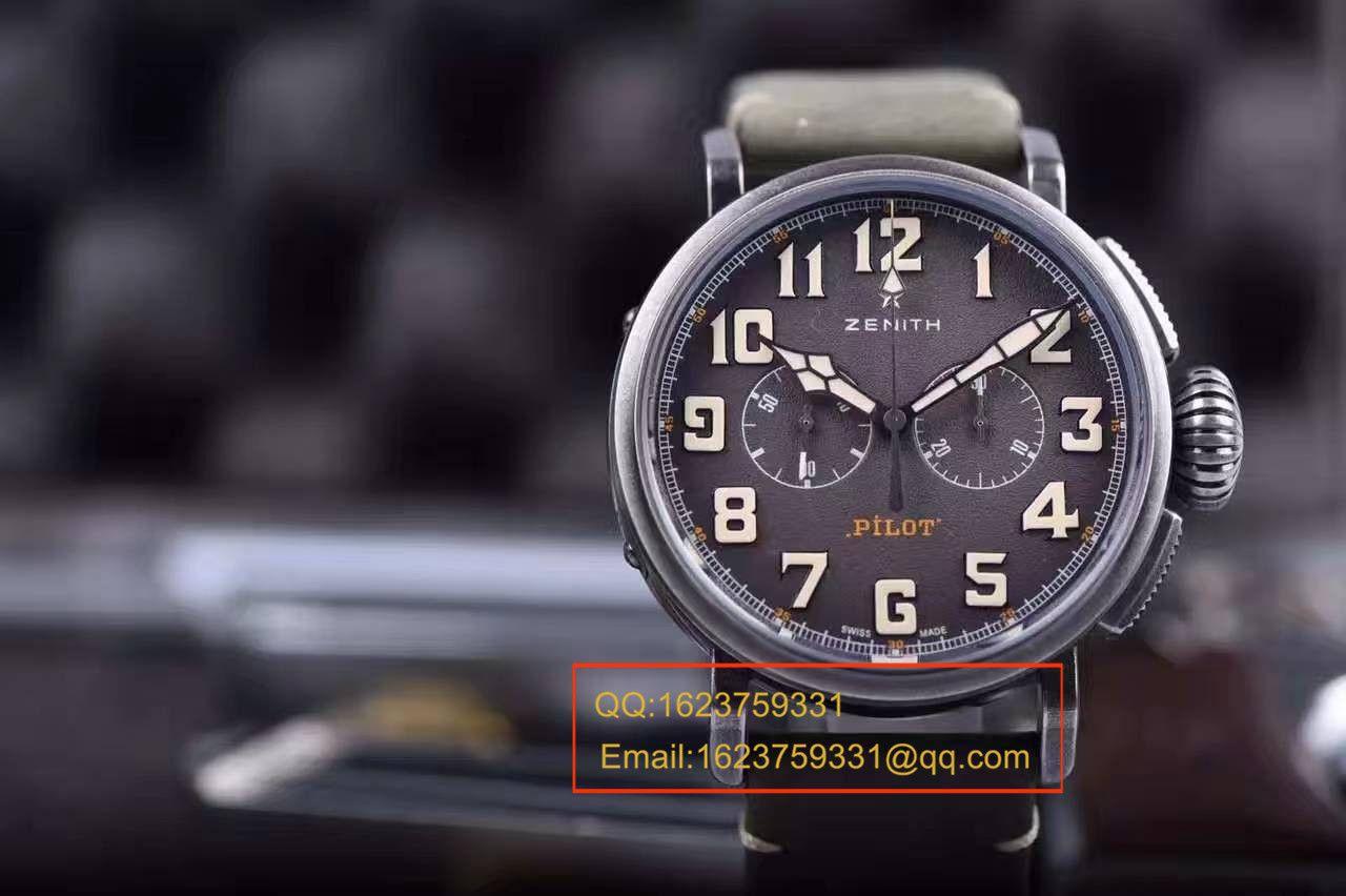 视频评测真力时飞行员系列11.2430.4069/21.C773腕表一比一精仿手表【XF原KW咖啡骑士】 / ZSL013MM