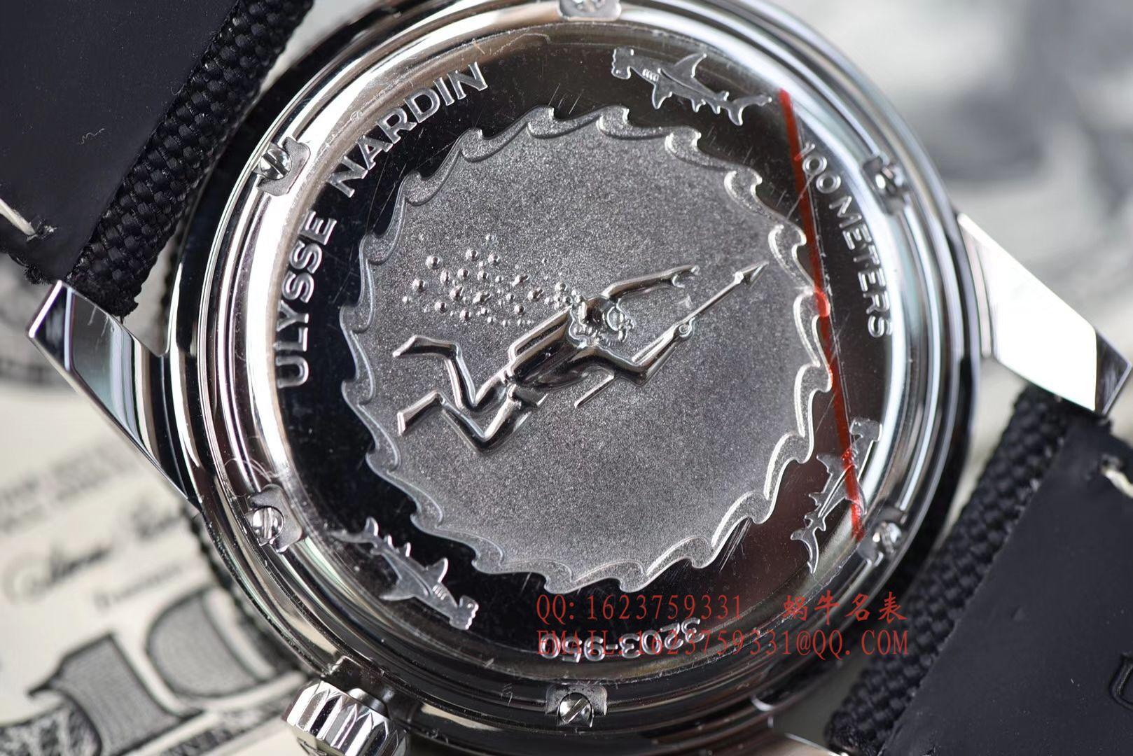 视频评测一比一超A高仿雅典表Ulysse Nardin Diver潜水表系列Le Locle 勒洛克潜水腕表3203-950 / YD012MM