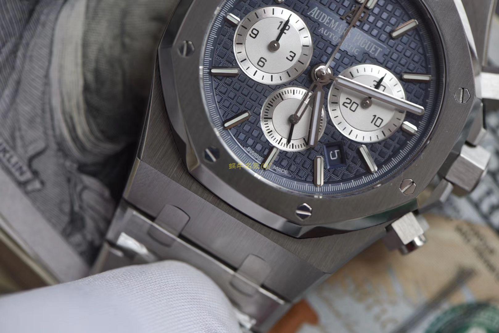 视频评测爱彼皇家橡树系列26331ST.OO.1220ST.01腕表一比一高仿手表【OM厂皇家橡树计时】 / AP158
