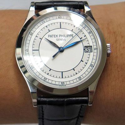 【ZF厂一比一超A高仿】百达翡丽古典表系列5296G-001 白金腕表