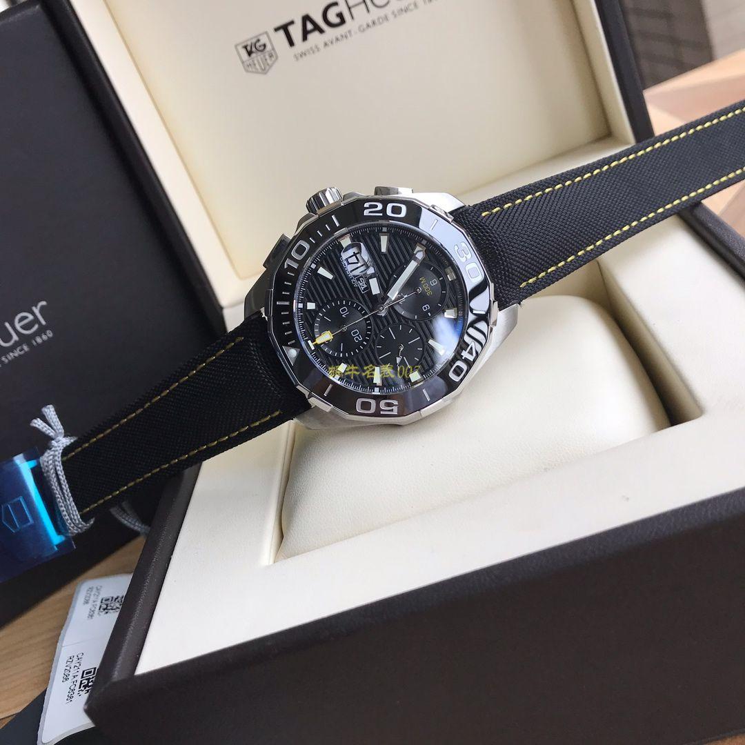 【视频评测】泰格豪雅竞潜系列CAY211A.BA0927腕表,CAY211A.FC6361,泰格豪雅竞潜系列原单计时机械表,搭载原装瑞士ETA7750机械机芯 / TG065