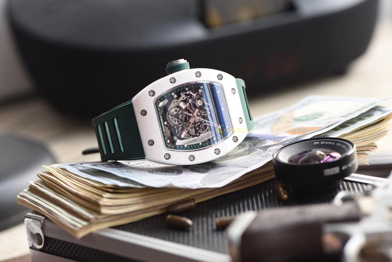【视频评测】RICHARD MILLE理查德摸了男士系列RM 055腕表【KV厂一比一超A精仿手表】 / RM055MWD