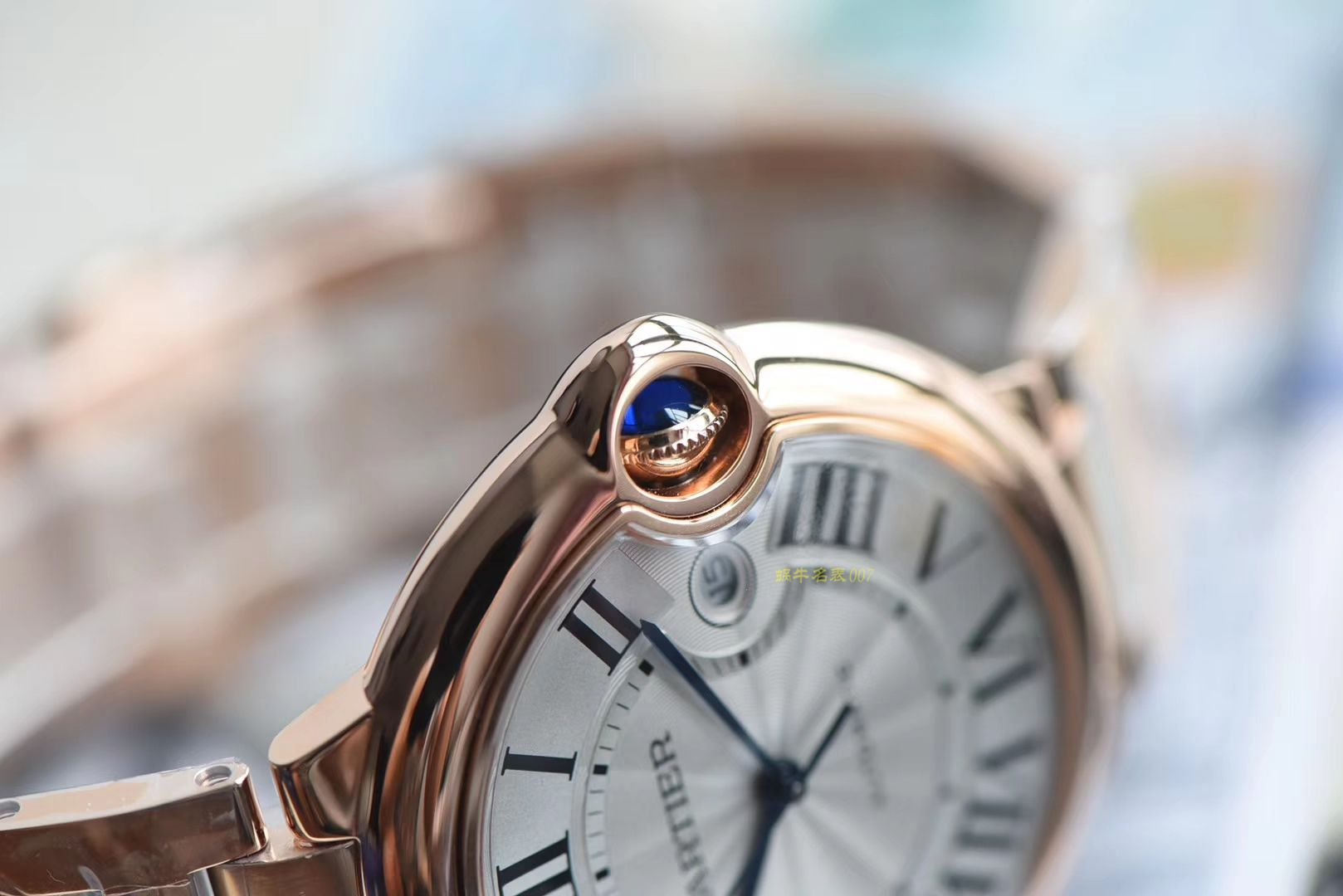 CARTIER卡地亚蓝气球系列W69006Z2腕表【一比一超A高仿手表】V6厂顶级蓝气球全玫瑰金款❗ / K210