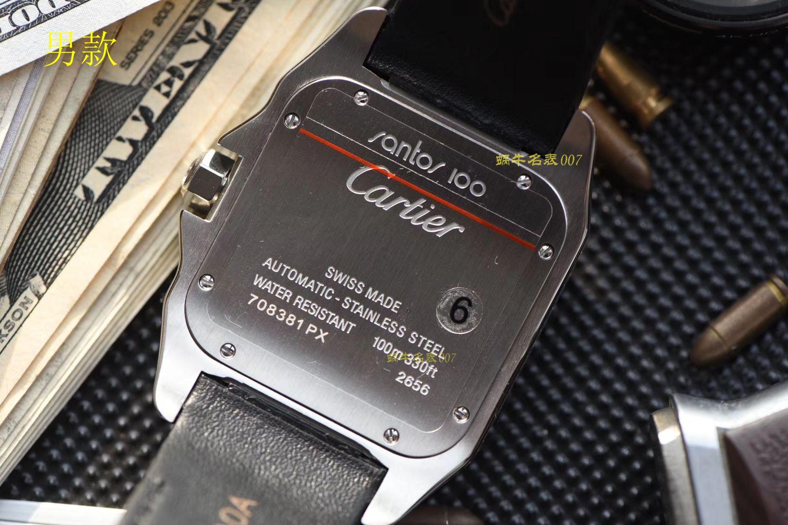【视频评测】卡地亚山度士系列W20106X8腕表,V6厂一比一超A高仿顶级满钻款SANTOS 100后镶钻 / K212