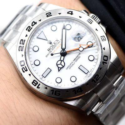 劳力士探险家型系列m216570-0001 白盘腕表一比一超A高仿【N厂探险家二代超级3187自动机械机芯】价格报价