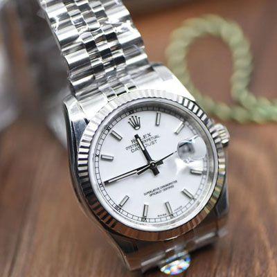 劳力士日志型系列116234白盘腕表36毫米【AR一比一超A精仿手表】价格报价