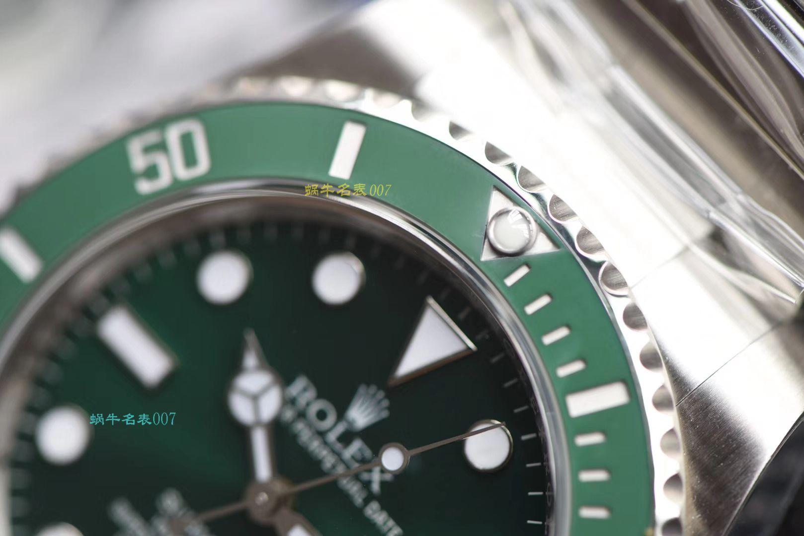 【AR厂一比一超A高仿劳力士绿水鬼手表】劳力士潜航者型系列116610LV-97200 绿盘腕表 / R318