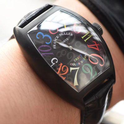 【台湾厂一比一复刻Franck Muller手表】法穆兰CRAZY HOURS 系列8880 CH NR COL DRM腕表价格报价