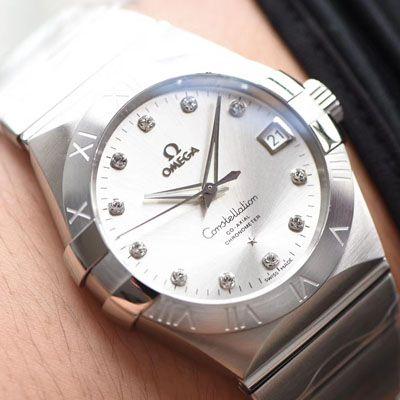 【视频评测VS厂一比一复刻OMEGA手表】欧米茄星座系列123.10.38.21.52.001腕表价格报价