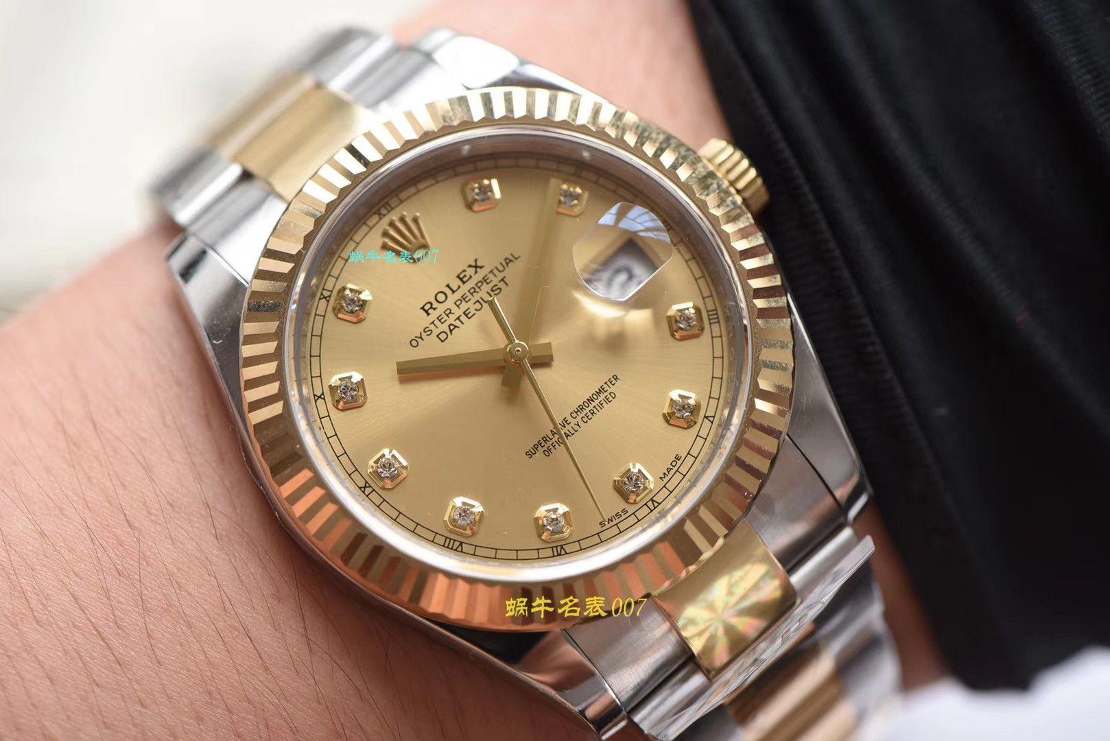 【视频评测AR厂一比一复刻劳力士日志手表】复刻的手表劳力士日志型系列116333-72213香槟盘腕表 / R320