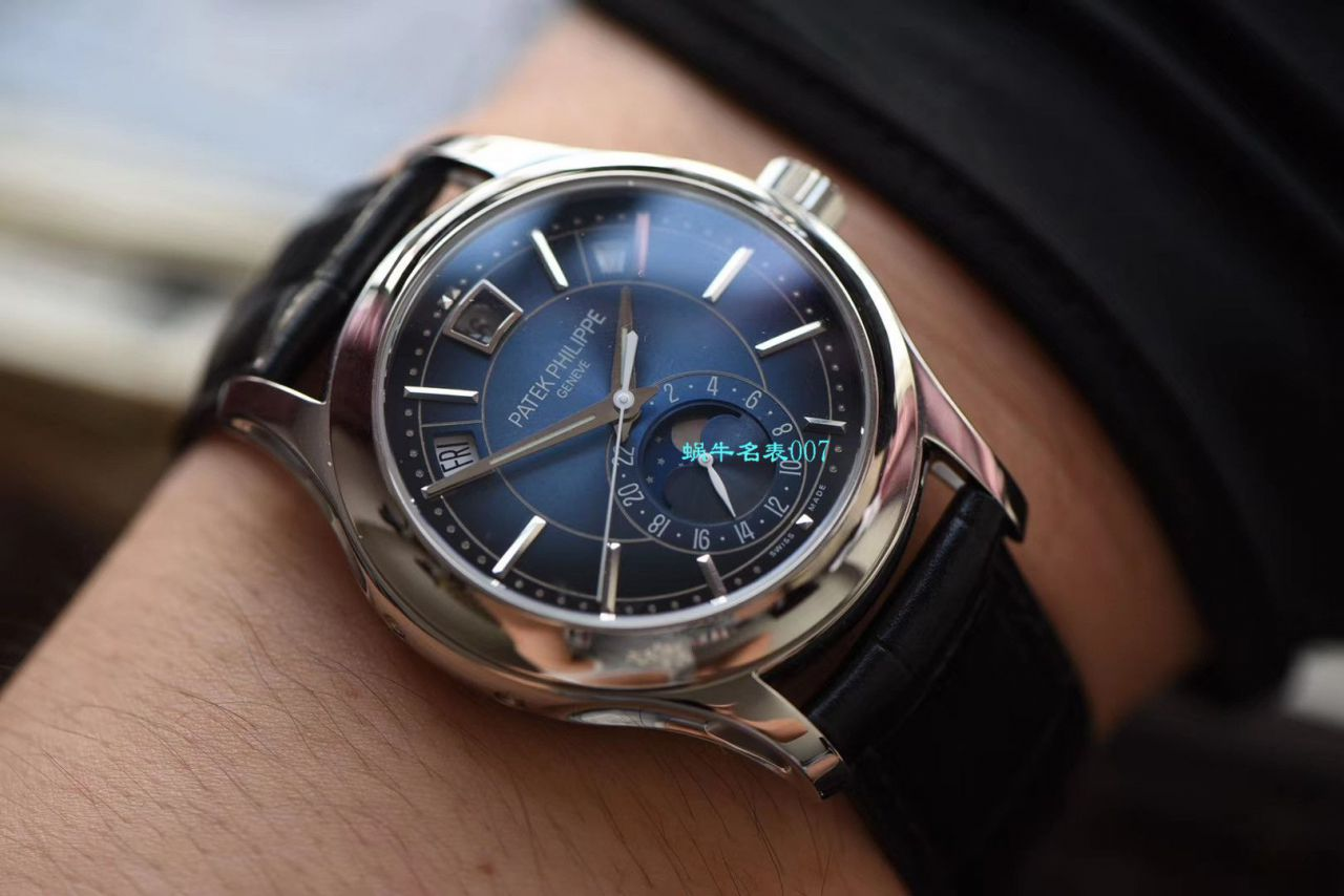 【视频评测GR厂顶级复刻手表】百达翡丽复杂功能计时系列5205G-010 白金腕表 / BD275