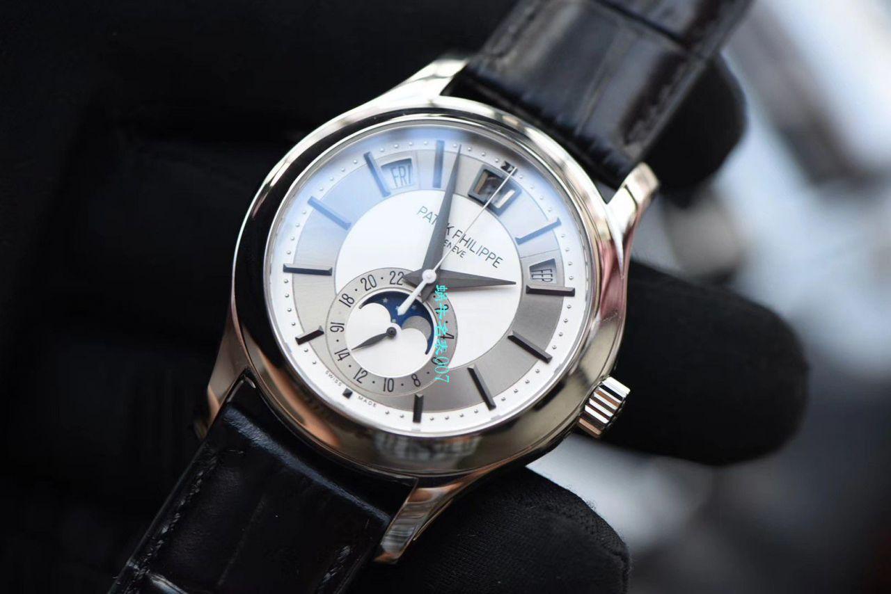 【GP厂复刻百达翡丽手表价格】PATEK PHILIPPE复杂功能计时系列5205G-001 白金腕表 / BD272
