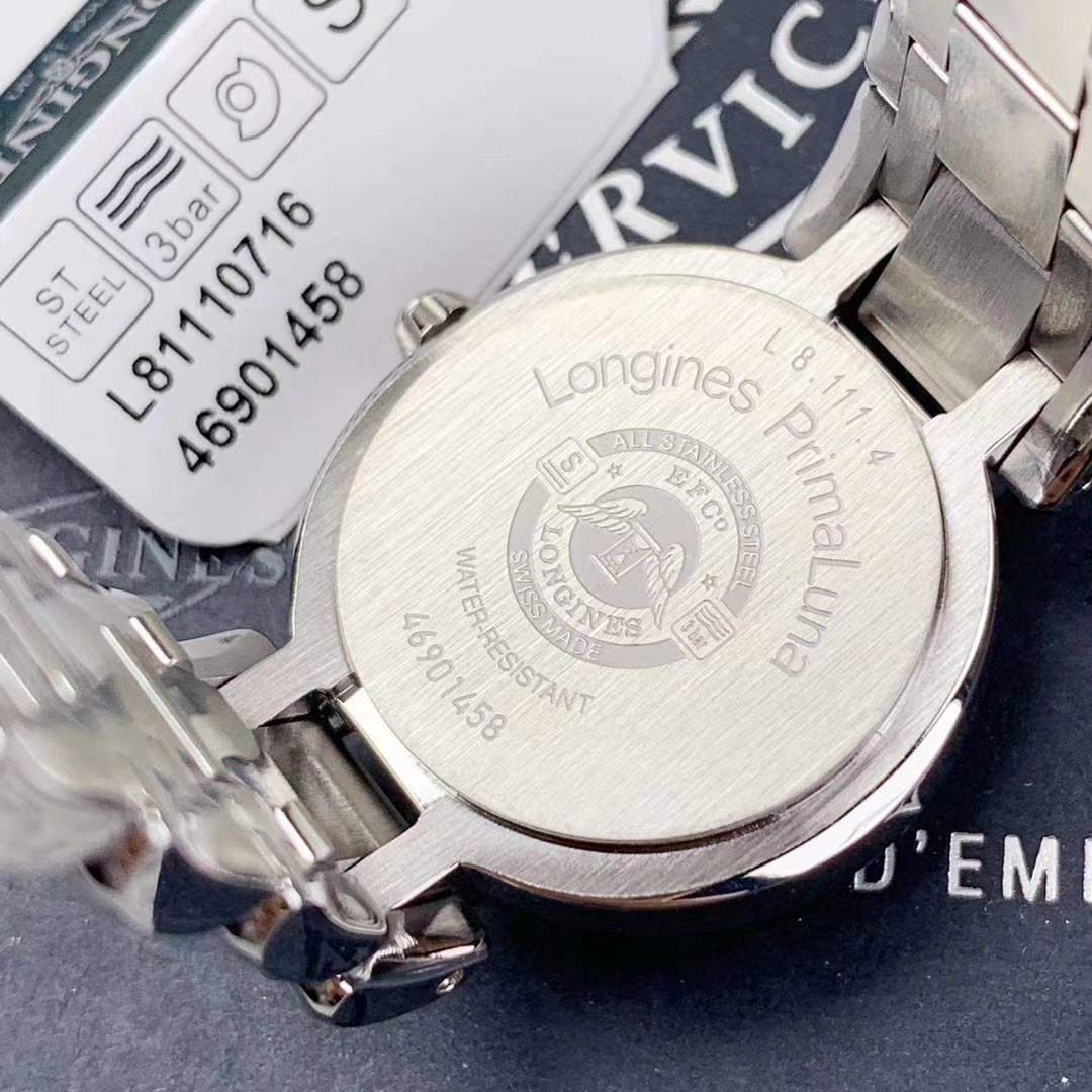 【渠道原单真钻女表】浪琴优雅PRIMALUNA心月系列L8.111.0.71.6腕表 / L111