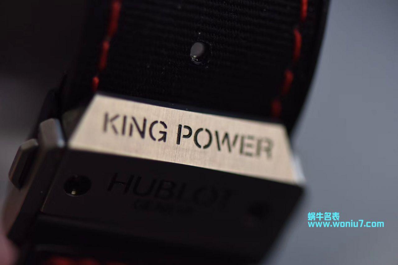【视频评测V6厂宇舶仿表】Hublot Big Bang King Power F1 Zirconium 703.ZM.1123.NR限量版腕表 / YB071