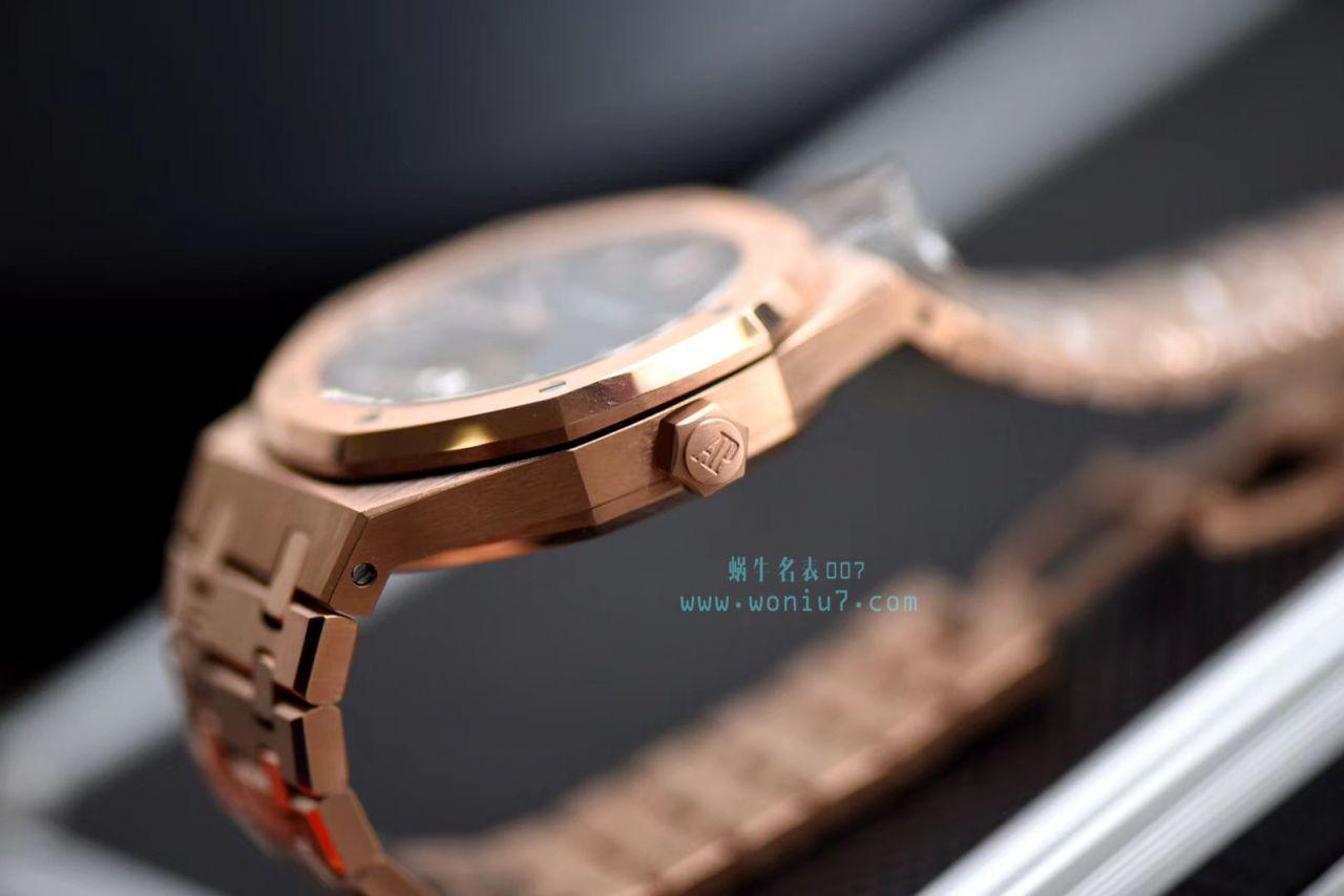 【视频评测JF官网复刻手表】爱彼皇家橡树系列26510OR.OO.1220OR.01陀飞轮腕表 / AP168