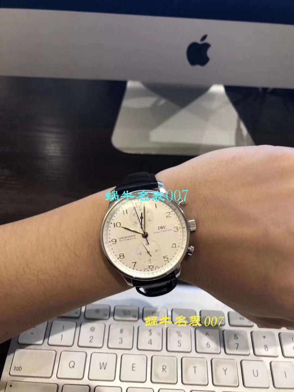视频评测IWC万国表葡萄牙系列IW371446腕表(万国葡计蓝针)【YL厂V7版本一比一高仿手表】 / WG275MM
