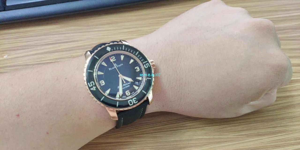 【视频评测ZF一比一超A高仿手表】宝珀Blancpain 五十噚超薄机芯系列 5015D-1140-52B蓝面腕表 / BP035