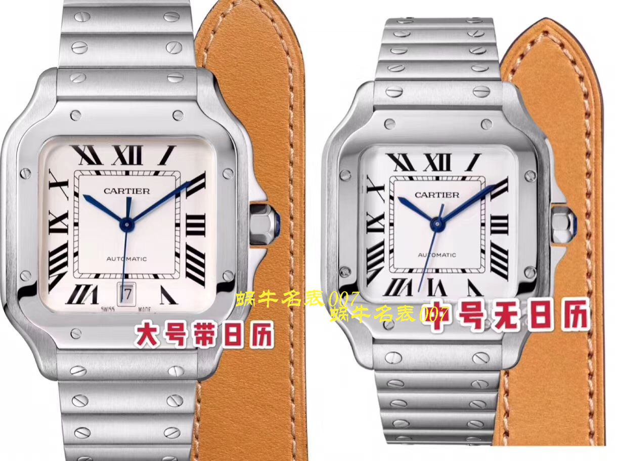 【V6厂一比一CARTIER复刻手表】卡地亚山度士系列WSSA0013(大号)腕表 / K223