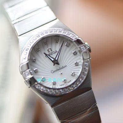 【视频评测SSS厂欧米茄复刻女士手表】欧米茄星座系列123.15.27.60.55.004腕表价格报价