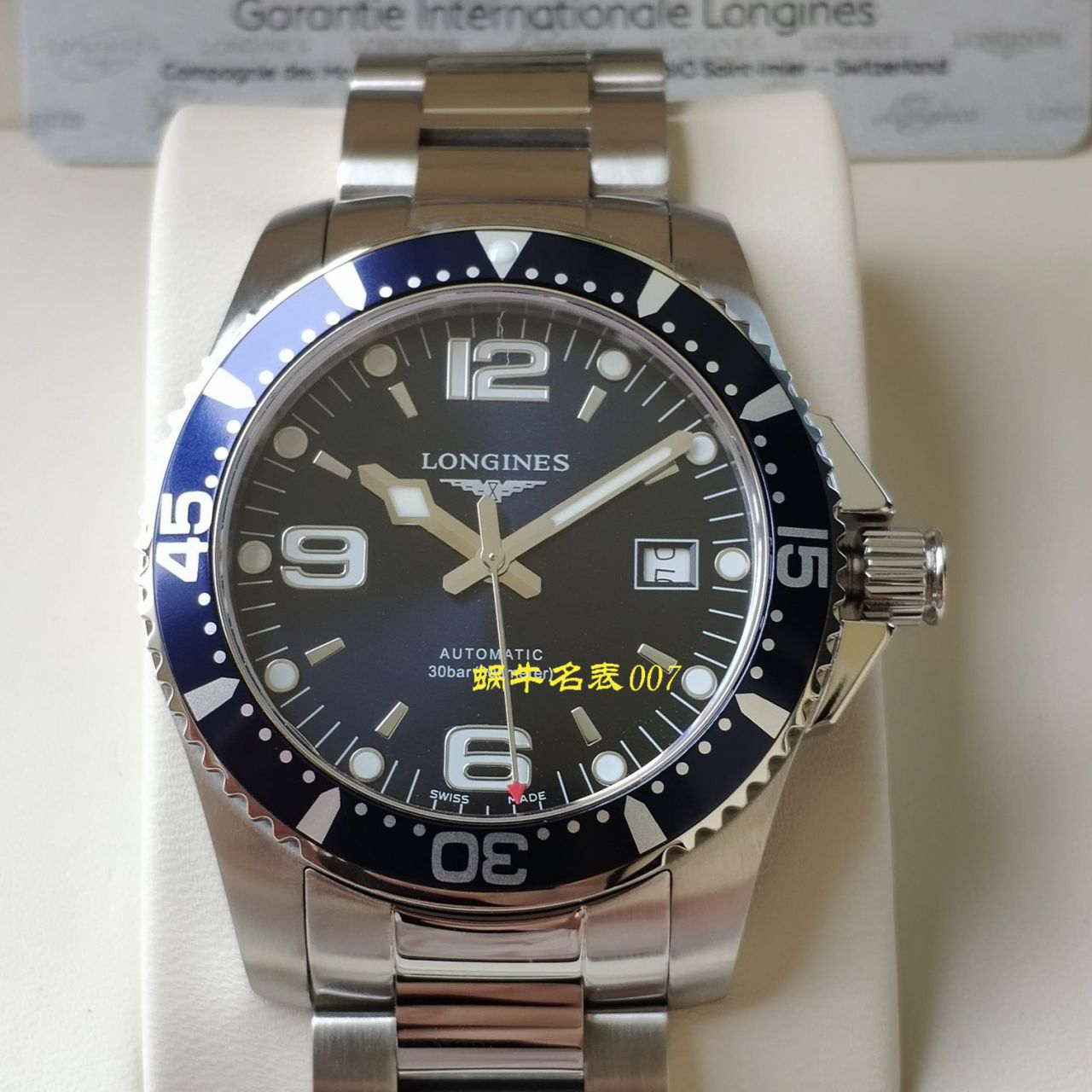 【渠道原单】浪琴康卡斯潜水系列L3.742.4.96.6腕表 / L117