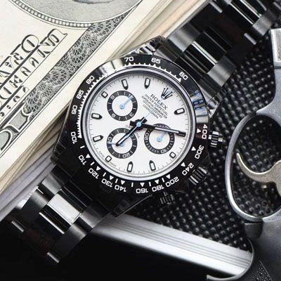 【台湾厂复刻手表】劳力士宇宙计型迪通拿系列116500LN超高颜值酷黑熊猫迪特别版价格报价
