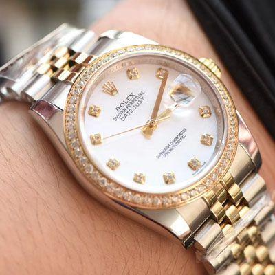 【台湾厂劳力士复刻女表】劳力士女装日志型系列116243-63603白色表盘腕表价格报价