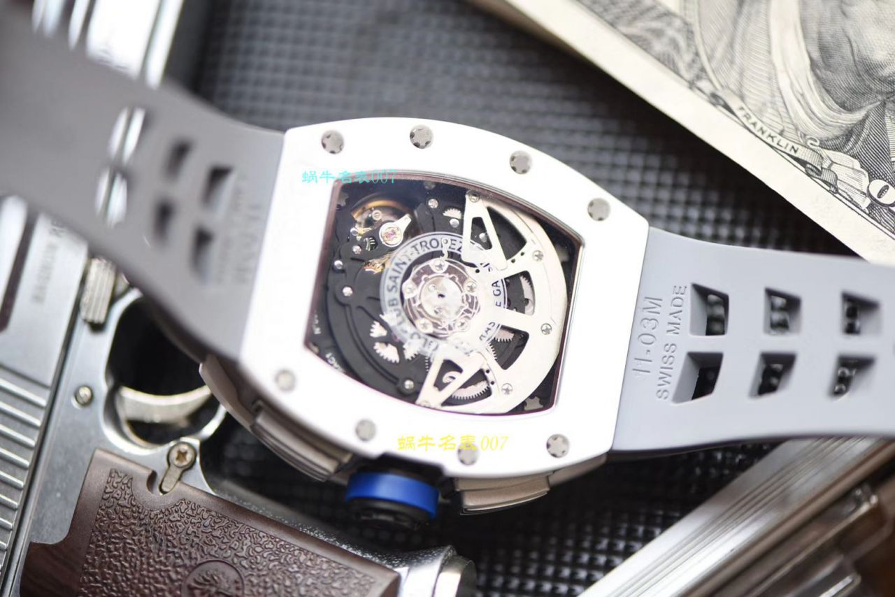 【视频评测KVRICHARD MILLE复刻手表】理查德米勒男士系列RM 011白色陶瓷限量款腕表 / KVRM01199