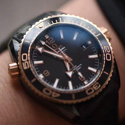 【VS厂顶级复刻OMEGA手表】欧米茄海马系列深海之黑全陶瓷215.63.46.22.01.001腕表价格报价