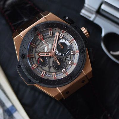 【HBBV6厂顶级复刻手表】宇舶法拉利F1 玫瑰金703.OM.6912.HR.FMC12 Hublot Big Bang F1 King Power Great Britain Limited Edition价格报价