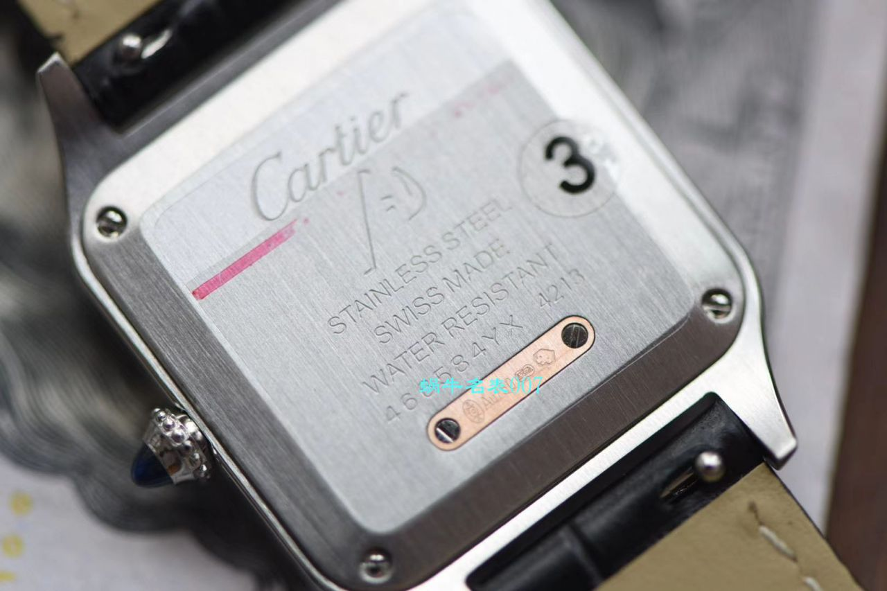 【XF厂卡地亚复刻表】卡地亚山度士系列W2SA0012(小号)腕表间玫山度士杜蒙 / K231