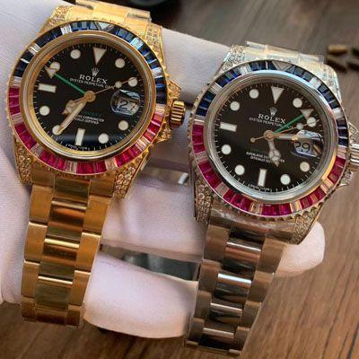 【LF厂Rolex顶级复刻手表】劳力士格林尼治型II系列镶钻116758 SAru-78208,116759 SAru-78209腕表价格报价