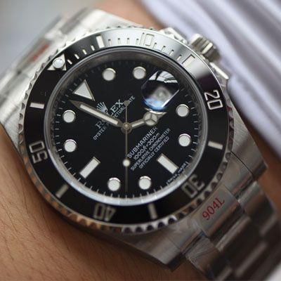 【视频评测N厂V10版本Rolex黑水鬼仿表】劳力士潜航者型系列116610LN-97200黑盘腕表价格报价