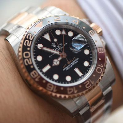 【LF厂Rolex间金沙士圈复刻表】劳力士格林尼治型II系列m126711chnr-0002腕表价格报价