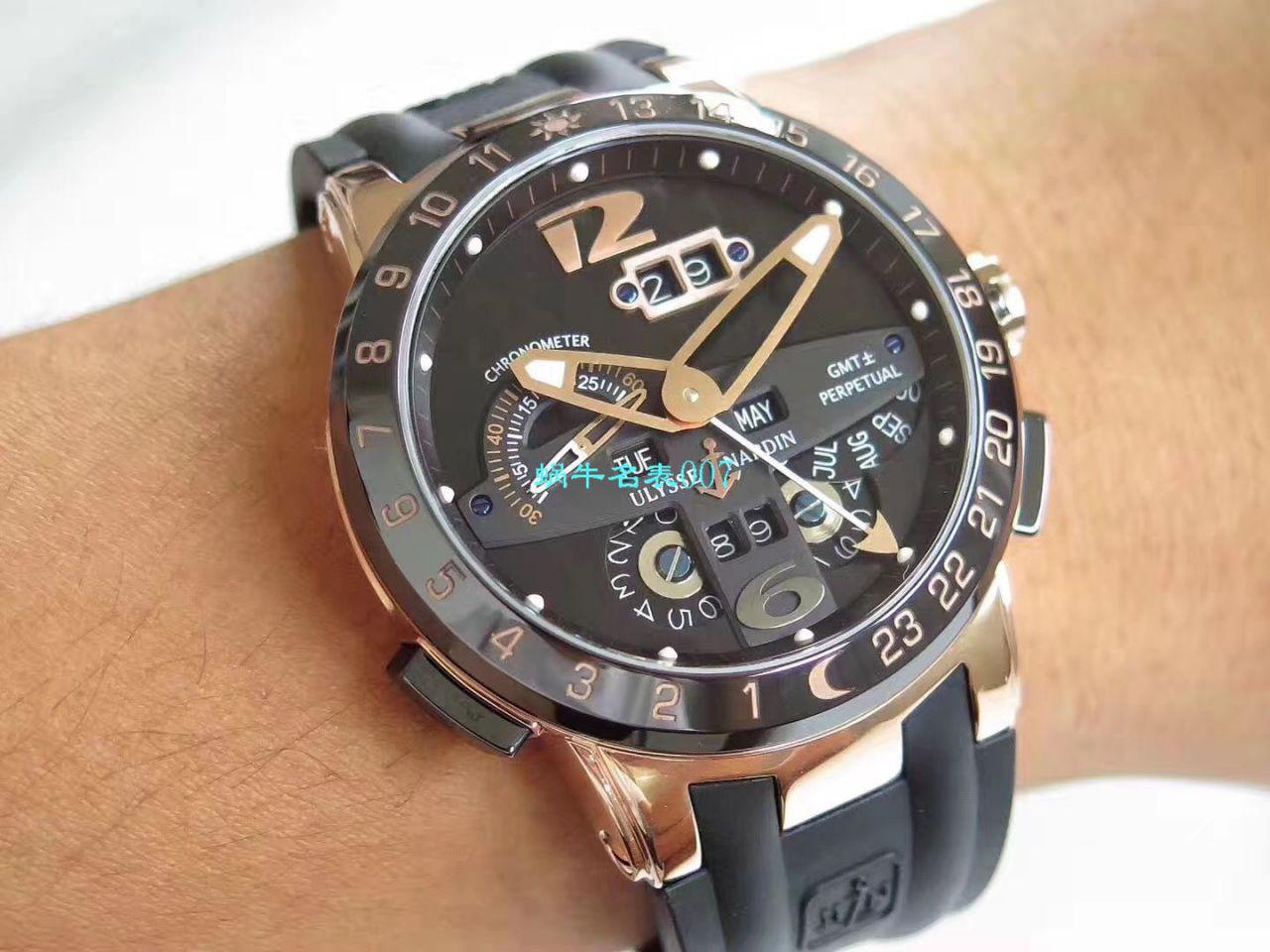 【TWA厂一比一Ulysse Nardin精仿手表】雅典表复杂功能系列320-00-3腕表 / YD019