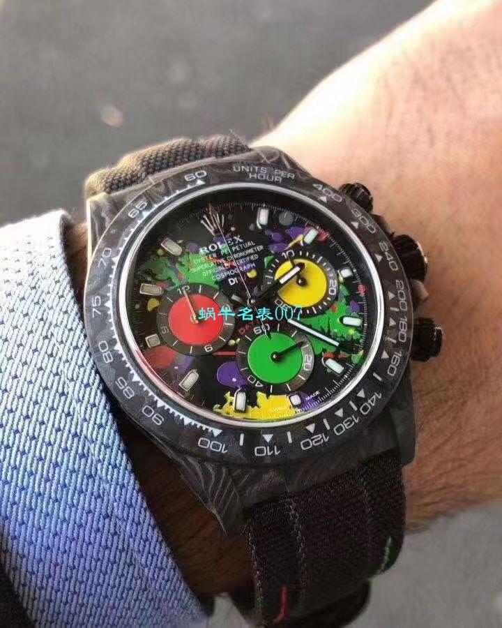 WWF新品发布:碳纤维劳力士ROLEX宇宙计时迪通拿系列之Diw团队改造版 / R399