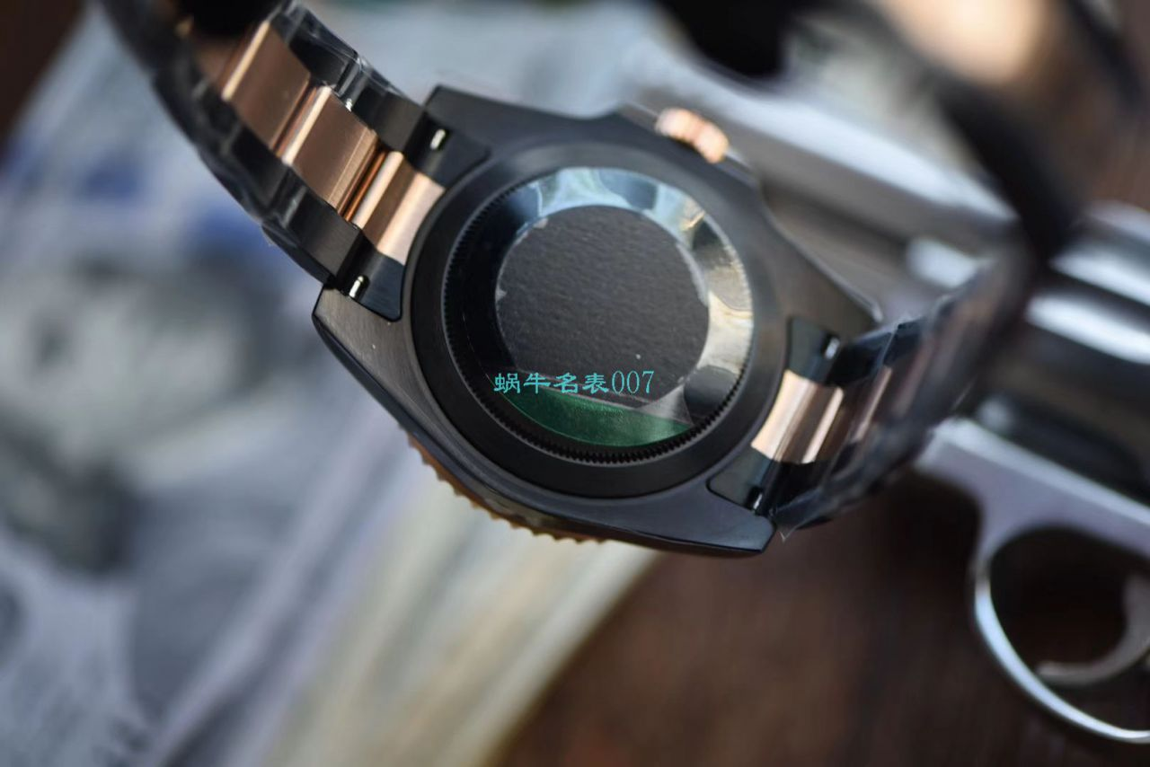 【LF厂一比一超A高仿手表】Batman特别全黑版劳力士格林尼治GMT沙士圈Rolex GMT-Master II M126711chnr-0002 / R503