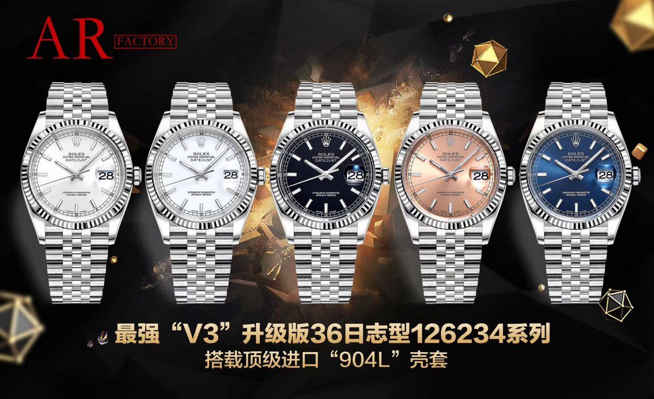 【视频评测】AR超强神作 RO.LEX  DATEJUST超级进口904L最强V3升级版36日志型126234系列 / R518
