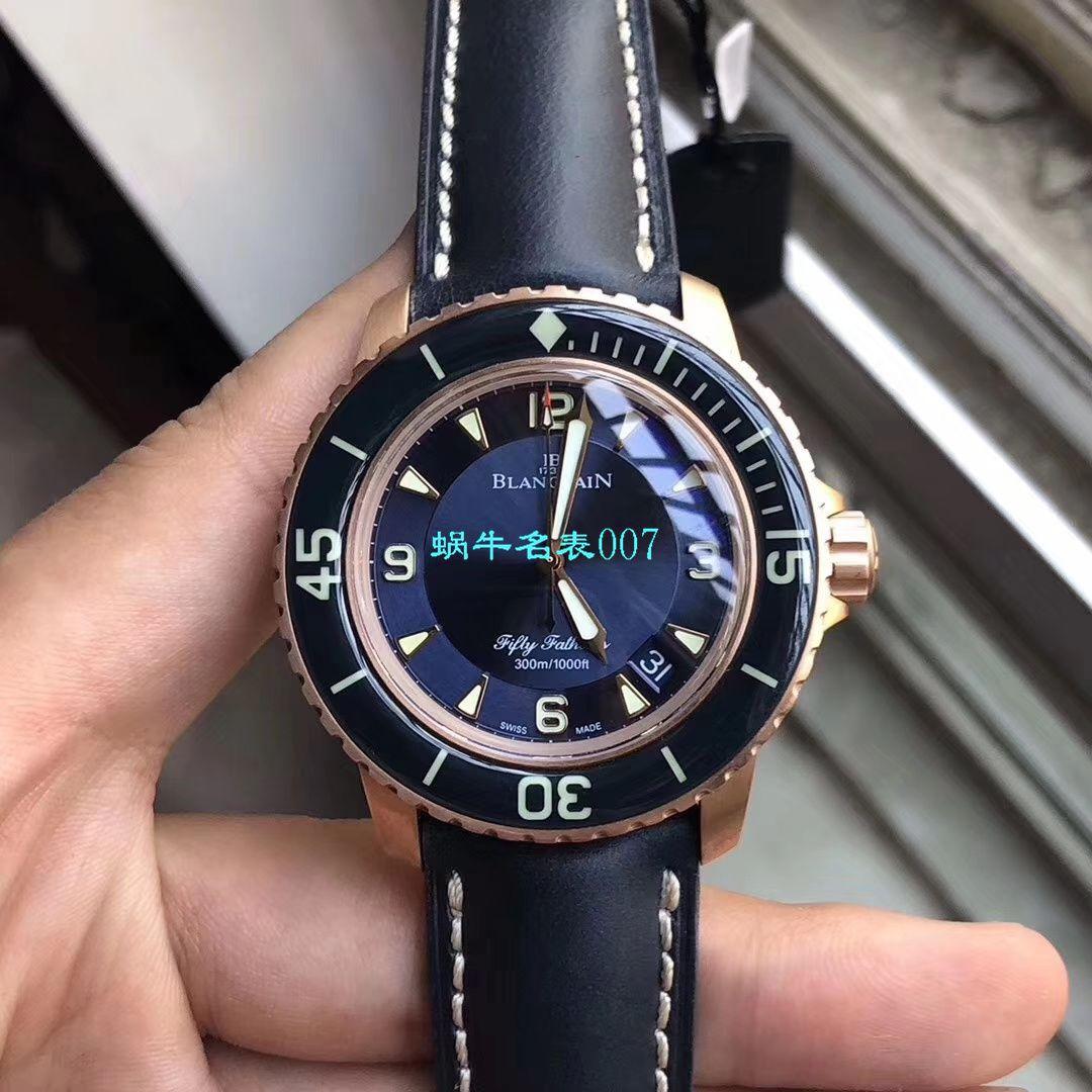 【ZF厂Blancpain超A复刻手表】宝珀五十噚系列5015-3603C-63B腕表 / BP066