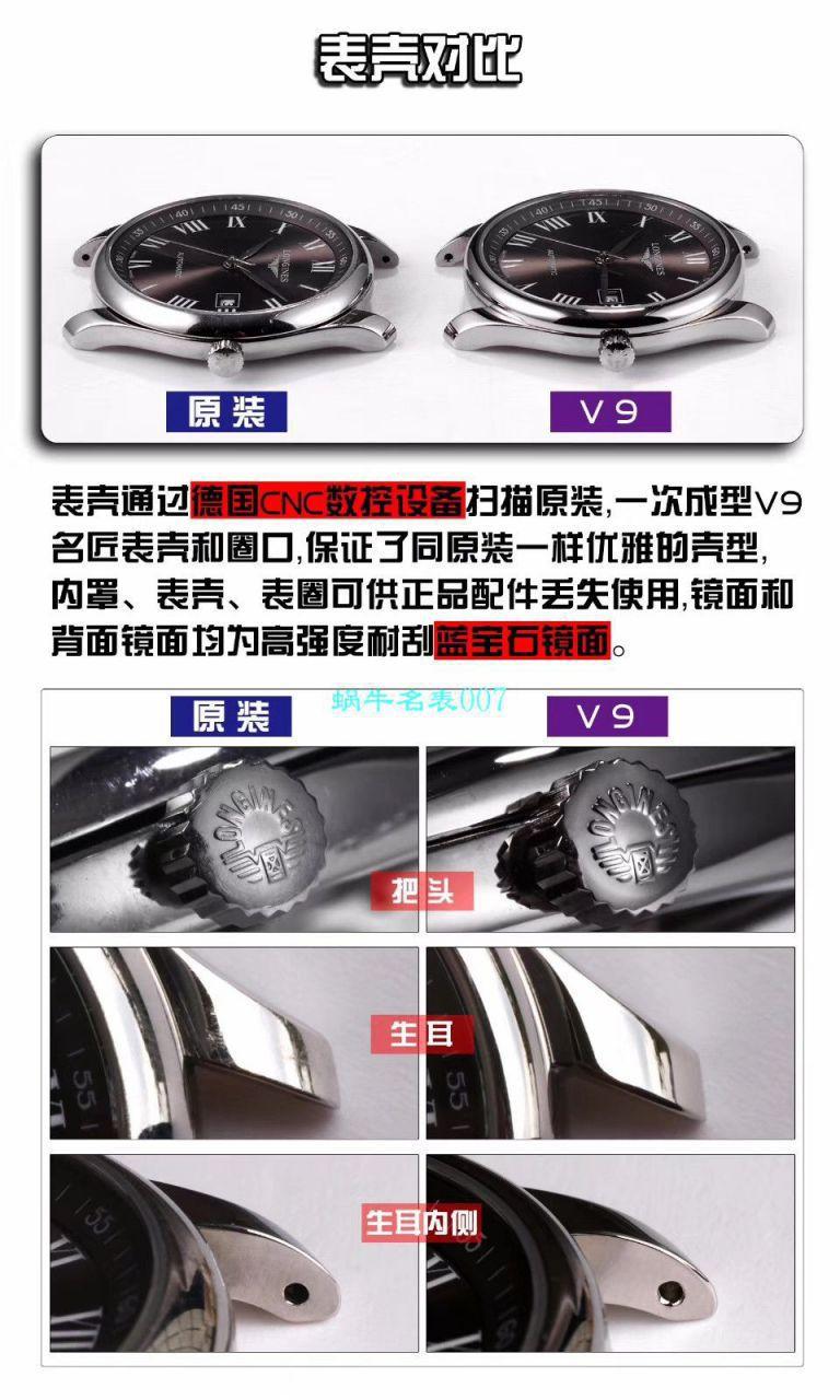【V9厂官网复刻表】浪琴名匠系列L2.893.5.77.7腕表 / L129