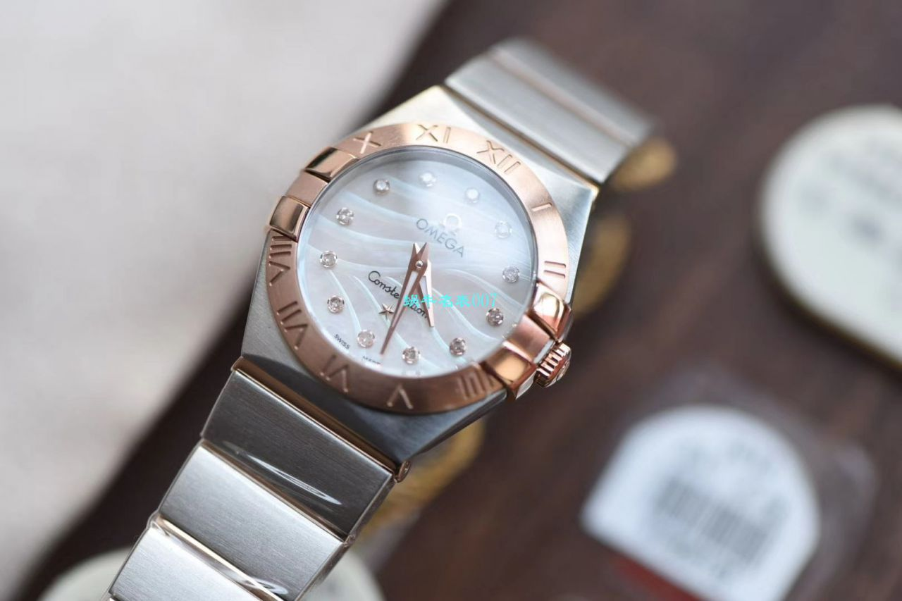 【8848超A精仿手表】欧米茄星座女装24、27毫米123.20.27.60.55.001腕表 / M663