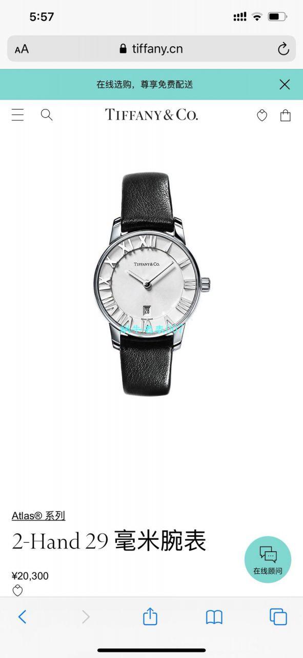 【Tiffany&Co.】原单精工蒂芙尼2019年专利款设计钢带石英女表 / Tiffany05