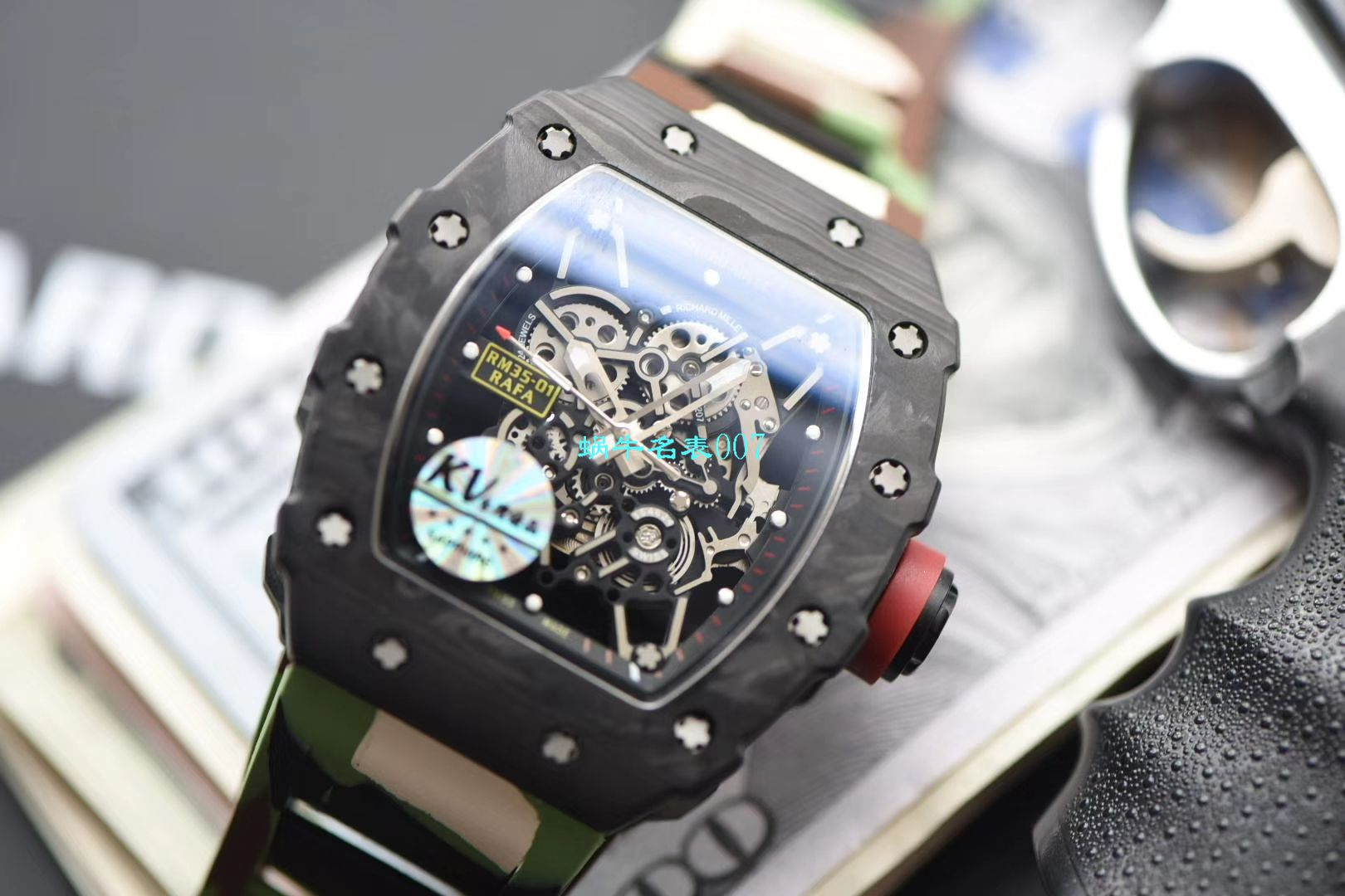 视频评测KVV3升级版一比一精仿理查德米勒RM 35-01腕表 / KV03501V306