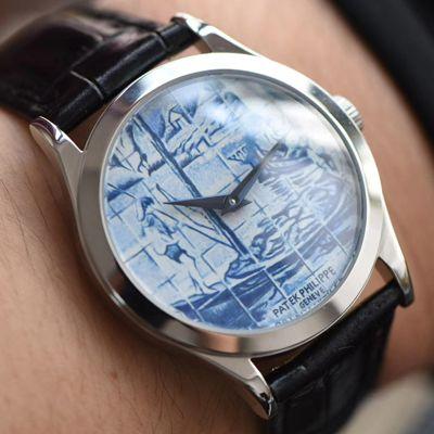 FL厂超A高仿手表百达翡丽古典表系列5089G-062太加斯河上垂钓腕表价格报价