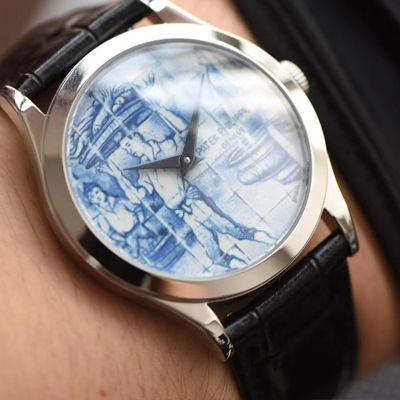 FL厂顶级复刻手表真珐琅百达翡丽古典表系列5089G-061一天的收货腕表价格报价