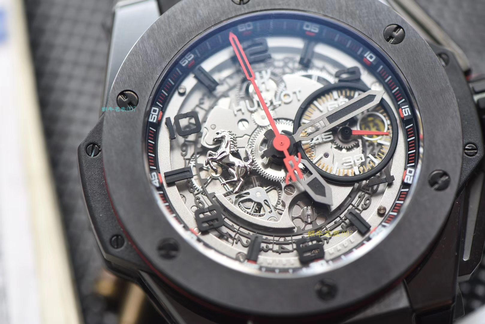视频讲解V6厂复刻宇舶法拉利Hublot Big Bang Ferrari Ceramic F11系列401.CX.0123.VR腕表 / YB062V6