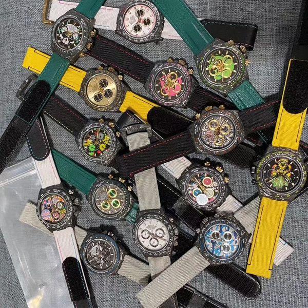 WWF厂超A复刻最新升级版Rolex劳力士碳纤维迪通拿Diw团队改造版价格报价