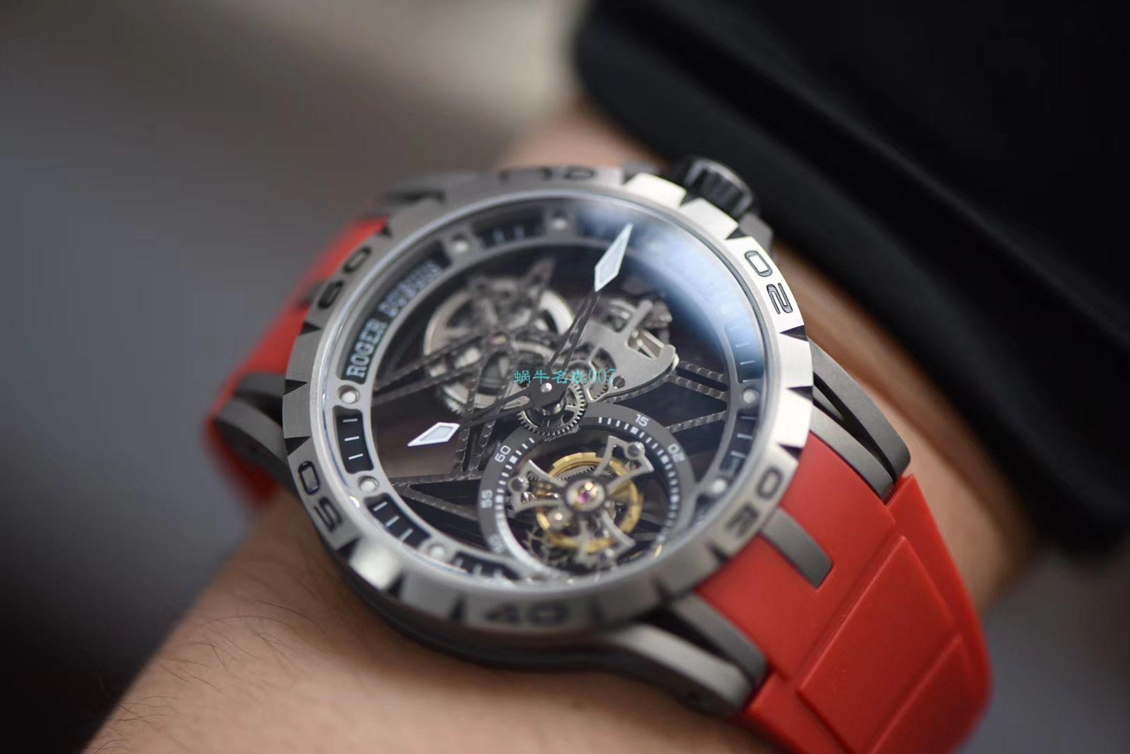 视频评测BBR厂官网顶级复刻陀飞轮罗杰杜彼Roger Dubuis王者系列RDDBEX0479红色表带腕表 / LJ067