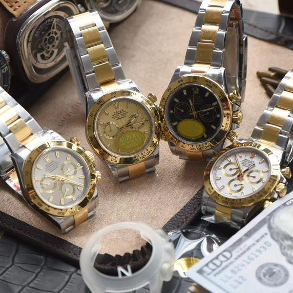 N厂劳力士超级4130迪通拿间金m116503-0004,116503白盘,m116503-0003,116523-78593 银色腕表